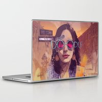 welcome Laptop & iPad Skins featuring Welcome to the Fresh Doodle by Fresh Doodle - JP Valderrama