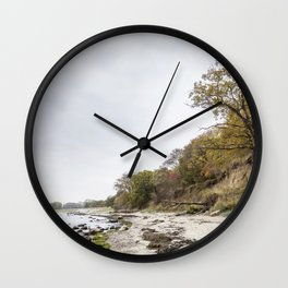 Along The Cliff On Baltic Sea Wall Clock