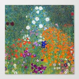 Gustav Klimt - Cottage Garden Canvas Print