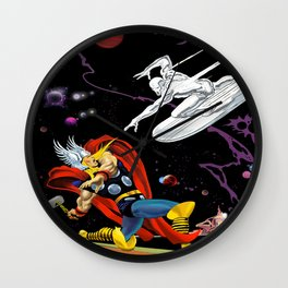 Thunder God vs Sky-Rider Of The Spaceways! Wall Clock