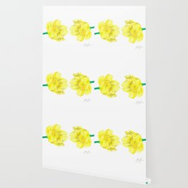 Two Yellow Peony Flowers Wallpaper