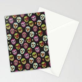 Máscaras (black background) Stationery Cards
