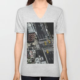 Little Yellow Cabs Unisex V-Neck