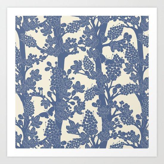 Romantic tree Art Print