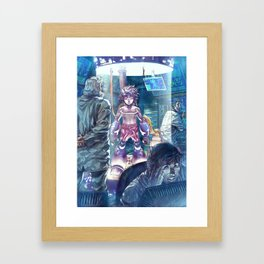 Megaman Rocks! Framed Art Print
