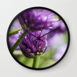 Wild purple wild flowers Wall Clock