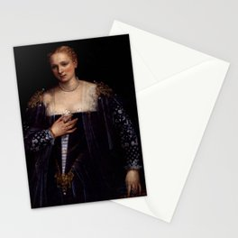 "Veronese (Paolo Caliari) ""Portrait of a Venetian Woman (La Bella Nani)"" Stationery Cards"