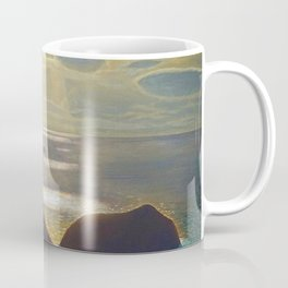 Rays of Sun off the Sea Cliffs Sturrall Donegal, Ireland by Rockwell Kent Coffee Mug