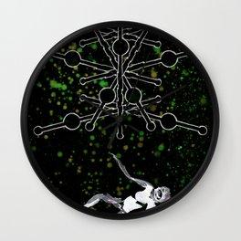A Tarot of Ink 09 of Wands Wall Clock