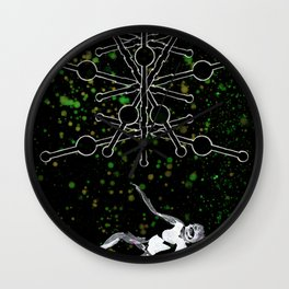 A Tarot of Ink 09 of Wands Wall Clock