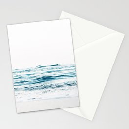 Water, Sea, Ocean, Water, Blue, Nature, Modern art, Art, Minimal, Wall art Stationery Cards