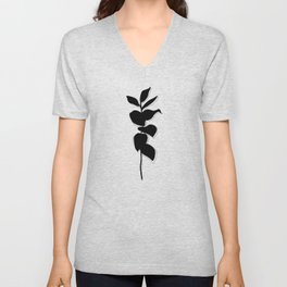 Plant silhouette line drawing - Evie layered Unisex V-Neck