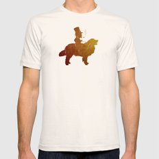 The Gold Retriever Mens Fitted Tee X-LARGE Natural