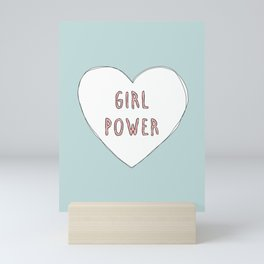 Girl power heart illustration - Girl Gang Prints Mini Art Print