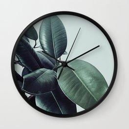 Ficus Elastica #22 #LightGreen #foliage #decor #art #society6 Wall Clock