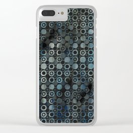 gray dots Clear iPhone Case