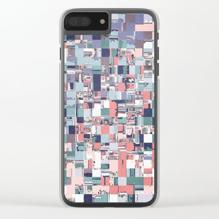 Colorful Abstract Geometric Mosaic Clear iPhone Case