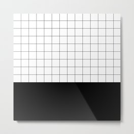 Scandi Grid Sq B Metal Print