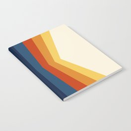 Bright 70's Retro Stripes Reflection Notebook