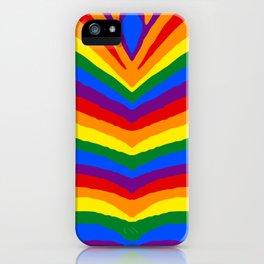 Gay Pride Rainbow Flag Zebra Safari Stripes iPhone Case