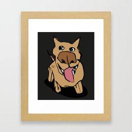 Citydog, beige/gray Framed Art Print