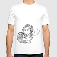 Laura SMALL White Mens Fitted Tee
