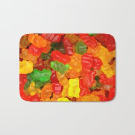 red orange yellow colorful gummy bear Bath Mat