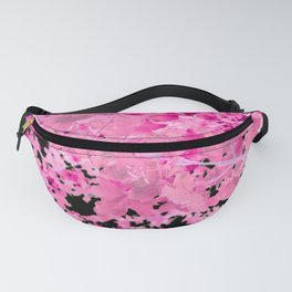 Abstract Tree Landscape Dark Botanical Art, green, black and pink Fanny Pack