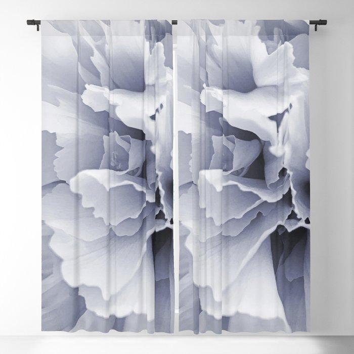 Grey Peony Bloom Blackout Curtain