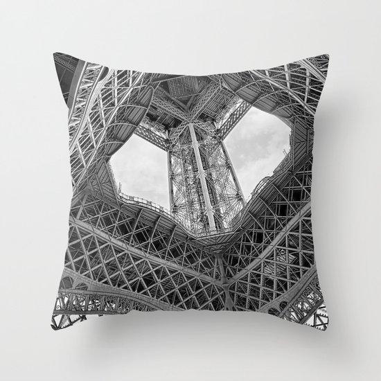 Eiffel Steel Throw Pillow