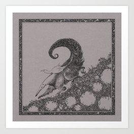 Sweet ride, egret! Art Print