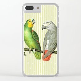 Vintage Parrots V1 Clear iPhone Case