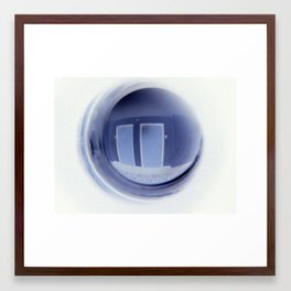 Keyboard in a Peep Hole Framed Art Print