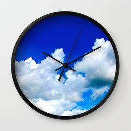 Clouds in a Clear Blue Sky Wall Clock