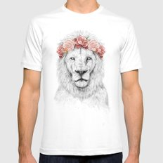 Festival lion Mens Fitted Tee LARGE White