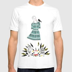 Oz: Dorothy, the Cowardly Kitty, the Tin Toy and the Scary Crow. Mens Fitted Tee White SMALL
