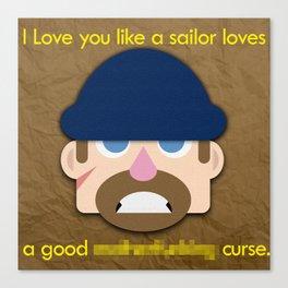I Love You - Sailor Canvas Print