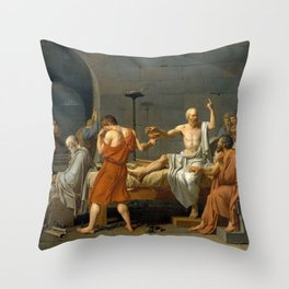 Jacques Louis David The Death of Socrates Throw Pillow