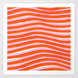 electric zebra stripes Art Print