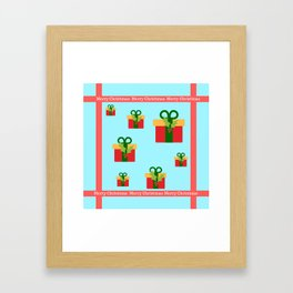 Merry Christmas and christmas gifts Framed Art Print