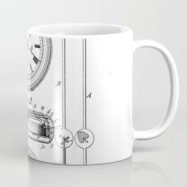 Stop Watch Vintage Patent Hand Drawing Coffee Mug