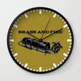 Brass and Fire Pressure Stove Wall Clock