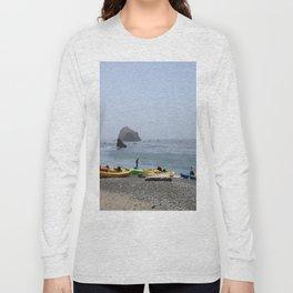Canoes At Bodega Bay Long Sleeve T-shirt