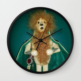 The Cowardly Lion Wall Clock