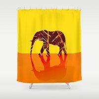 safari Shower Curtains featuring Safari by Mystical Garden