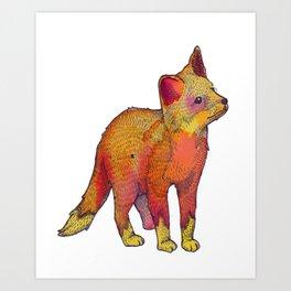 Watercolor Fox Art Print