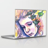 poison ivy Laptop & iPad Skins featuring Poison Ivy by Lauralouisa