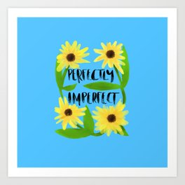 Perfectly imperfect classic blue background Art Print