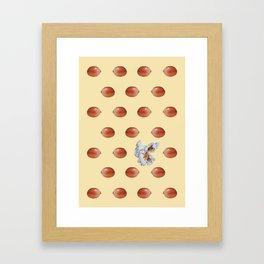 One pop in yellow Framed Art Print