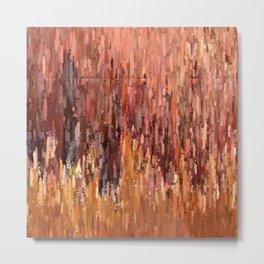 Red Brush Metal Print